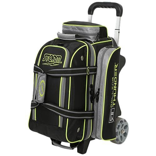 Storm 2 Ball Rolling Thunder Bowling Bag- Black/Gray/Lime ()