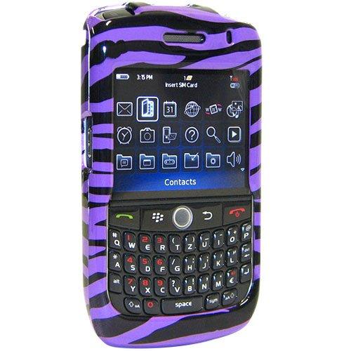 Amzer Snap-On Case for BlackBerry Curve 8900 - Zebra Print Purple