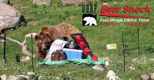 UDAP Bear Shock Portable Electric Food Storage Fence for Bears (mesh / net fence)