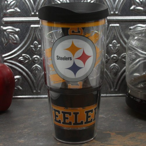 NFL Tervis Tumbler Pittsburgh Steelers 24oz. Wrap Tumbler Pro with Lid by Tervis Tumbler