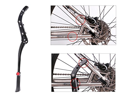 BlueSunshine Rear Mount Bicycle Kickstand Adjustable Aluminum Alloy Bike Stand fits 24