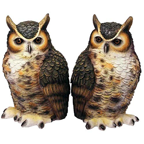 Streamline Great Horned Owl Bookends Decor for Home