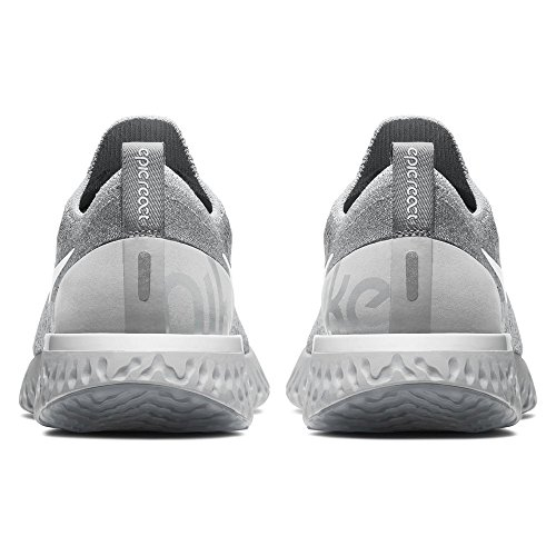 Running White 002 Pure Cool Wmns Donna NIKE Grey Grey Epic Multicolore React Platinum Scarpe Flyknit Wolf vxZwq