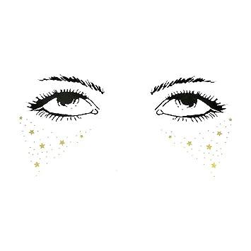Amazon.com : LLJEkieee Halloween Eye stickers Tattoos Makeup ...
