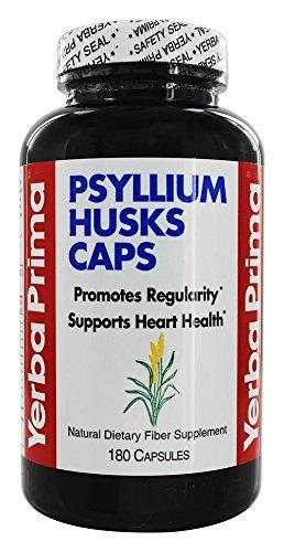 Yerba Prima Psyllium Husks Caps Dietary Fiber 625 mg, 180 ()