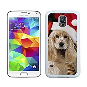 Design for Mass Customization Christmas Long Fur Dog Samsung Galaxy S5 White Silicone Case,Samsung I9600 Phone Case