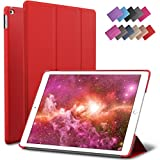 iPad Mini 4 Case, ROARTZ Red Slim Fit Smart Case Cover with Auto Wake/Sleep Feature for Apple New iPad Mini 4 Retina Display 2015 model