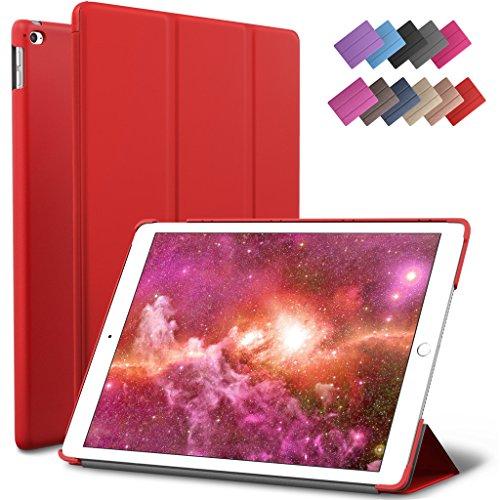 iPad Mini 4 Case, ROARTZ Red Slim Fit Smart Rubber Coated Folio Case Hard Cover Light-Weight Auto Wake/Sleep For Apple iPad Mini 4th Generation Model A1538/A1550 Retina Display