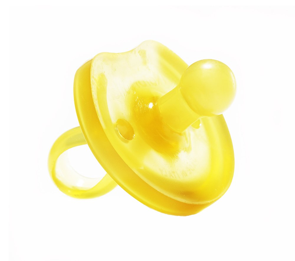 Natursutten BPA Free Natural Rubber Pacifier, Butterfly Rounded, 0 - 6 Months 10030-b