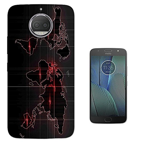 000914 - Army Look World Map Radar War Design Motorola Moto G5S Plus 5.5