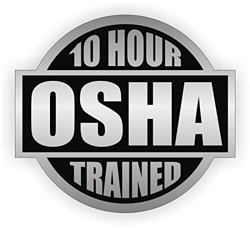 10 Hour OSHA Trained Hard Hat Sticker / Helmet Decal Label Lunch Tool Box Safety Stickers
