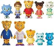 Daniel Tiger's Neighborhood Friends & Family Figure Set (10 Pack) Includes: Daniel, Friends, Dad &