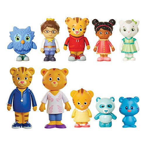 Daniel Tiger's Neighborhood Friends & Family Figure Set (10 Pack) Includes: Daniel, Friends, Dad & Mom Tiger, Tigey & Exclusive Figure Pandy [Amazon Exclusive] (Best Friend Finger Tattoos)
