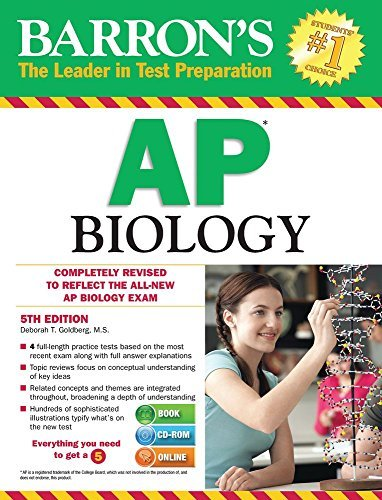 By Deborah T. Goldberg M.S. Barron's AP Biology with CD-ROM, 5th Edition (Barron's Ap Biology (Book & CD-Rom)) (5th Fifth Edition) [Paperback]