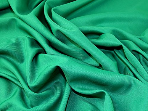 Polyester Twill Weave Suiting Dress Fabric Green - per metre