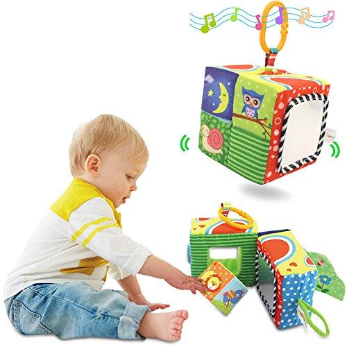 867422cc1bad5 jouet hochet chiffon blocs B cube enfant construction de eacute b TOLOLO  Softeacute ducation premiers jouets ...