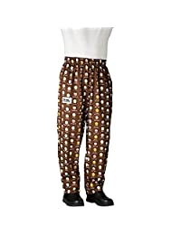 Best manufuctures Mens Traditional Poly Blend Baggy Chef Pant