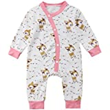 95cbc857e30 ... Bodysuit Infant Ruffle Fly Sleeve  various styles 481e3 247d3 sweetyhouse  Newborn Baby Cotton Long Sleeve Deer Print Romper Front Buttons Jumpsuit ...