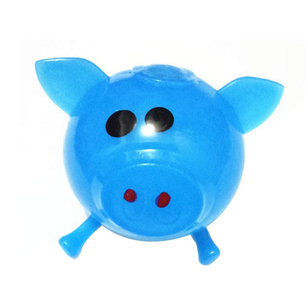 Pet1997 Decompression Puzzle Plaything, 1Pcs Jello Venting Pig Dolls, Cute Anti Stress Splat Water Pig Ball, Vent Toy Venting Sticky - Blue, Orange, Pink, Green, Purple (Blue)
