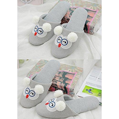 Unterseite 1 Damenschuhe Atmungsaktiv Bequeme Grau Baumwollschuhe Eastlion Stil Weiche 0Rqvnw