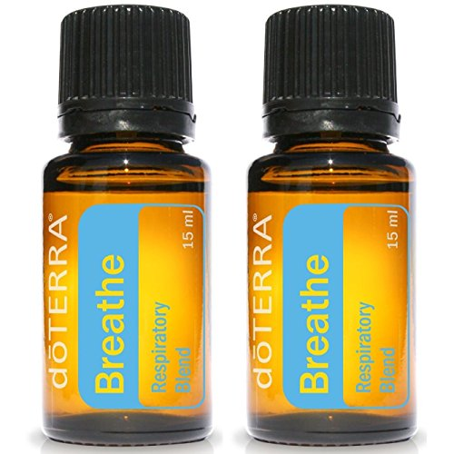 doTERRA Breathe Essential Oil Respiratory Blend 15 ml (pack of 2)