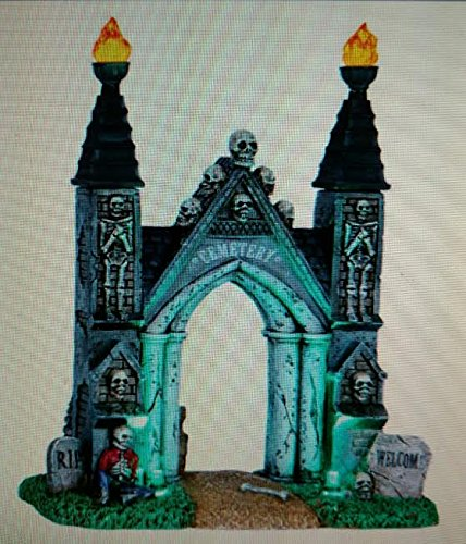 Lemax Spooky Town Cemetery Gate-Battery Operated (4.5v) -