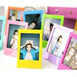 CaiulBasic [Fujifilm Instax Mini Frame] 5 Different Colorful 3 inch Frame For Instax mini 8 70 7s 90 25 50s Film/Pringo 231 Film/Instax SP 1 Film/Polaroid PIC-300P Film/Polaroid Z2300 Film