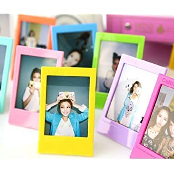 caiulbasic fujifilm instax mini frame 5 different colorful 3 inch frame for instax mini - Mini Frame
