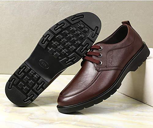 5 UK 7 Tamaño cordones de Color boda 5 Color 11 US para mocasines de 8 10 Marrón US tamaño de ocasionales para hombres Zapatos negocios cómodos cuero Marrón UK hombres con formales NEGRO BxUCqUp