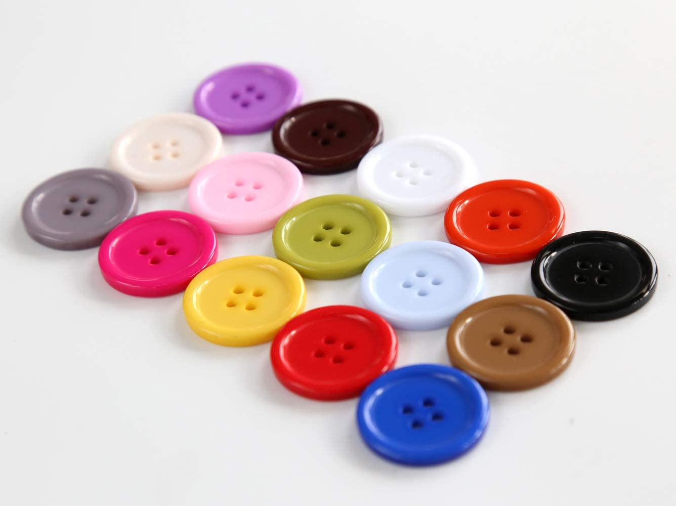 8 Large Cream Colored Buttons Sewing Buttons #LMSB-00210