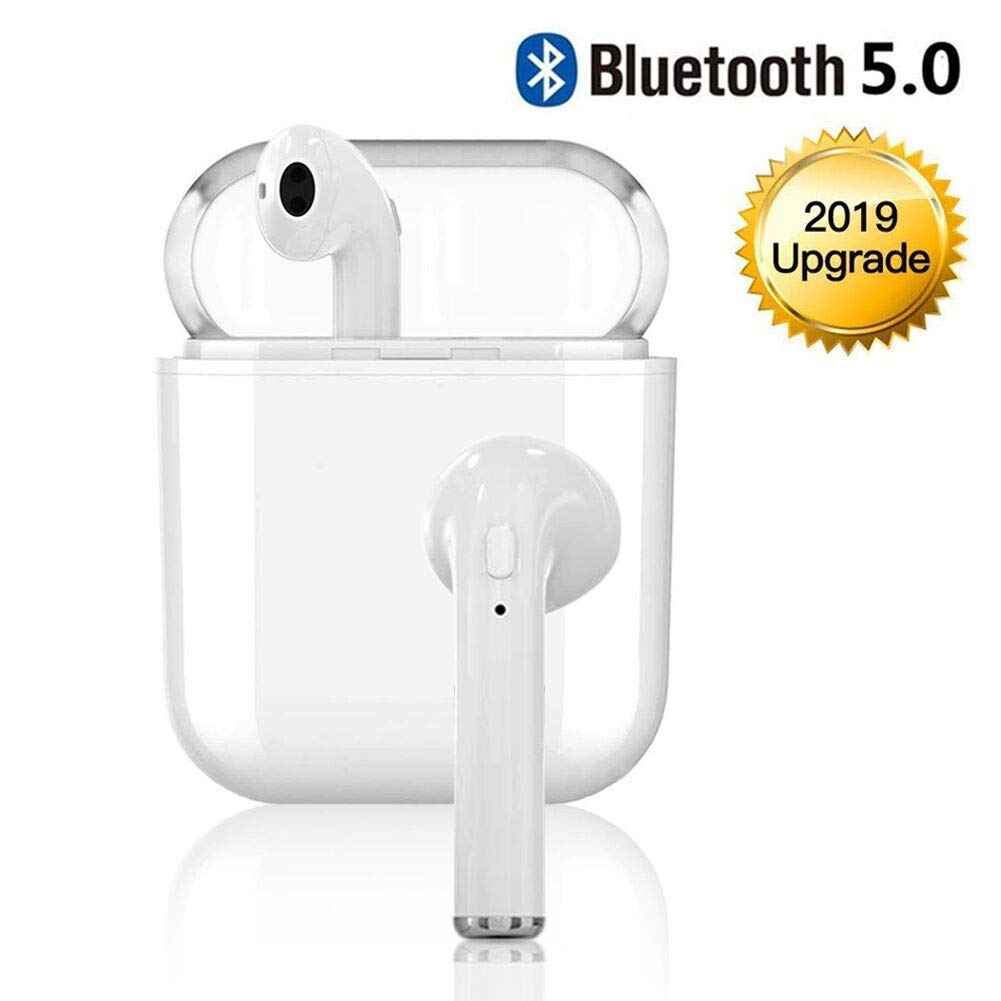KaidyJianfa Bluetooth Headset 5.0 Wireless Earbuds Sports Headphones Noise Reduction Headphones in-Ear Headphones HiFi Headphones with Microphone,for Apple Airpods Android//iPhone