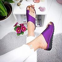 Damen Samantha Sommer Textil Zehentrenner Hausschuhe Flach Vegan Sandalen