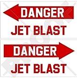 usaf decals - DANGER JET BLAST Aircraft Helicopter USAF 4