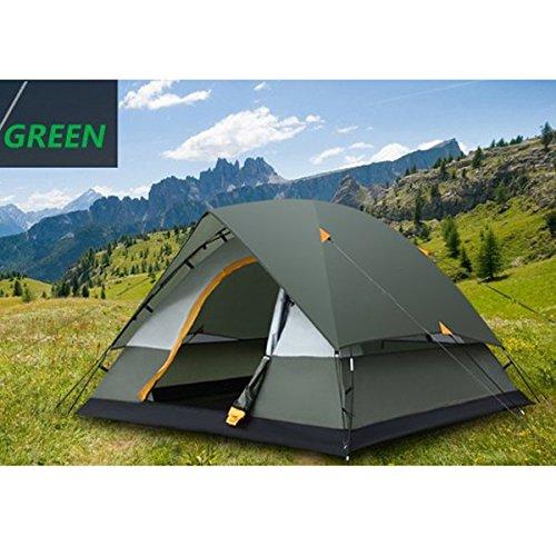 Outdoor-Camping-Zelt 3-4 Personen Zwei Schichten Sturmsichere Zelt