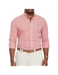 Polo Ralph Lauren Poplin2 Red Gingha Checked Big & Tall Oxford Plaid Shirt