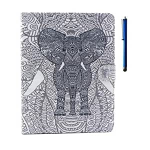Elephant Pattern PU Leather Case with Stand and Pen for iPad 2/3/4 by ruishername