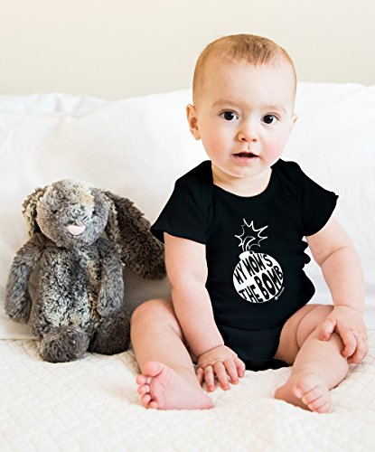 Fayfaire Gift for New Moms: Outfit for Boy or Girl My Moms The Bomb 6M-12M Black by Fayfaire (Image #2)