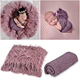 Best  Aniwon 2Pcs Baby Photo Props Long Ripple Wraps DIY Blanket Outfits Newborn Wraps Photography Mat for Baby Boys and Girls