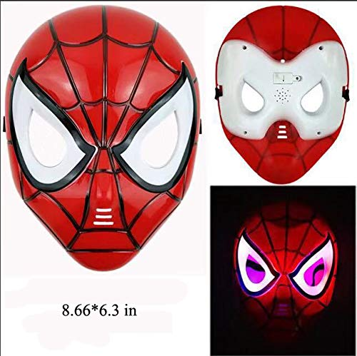 HSSKJ Kids Superhero Dress Up Costumes - Satin Capes Felt Masks LED Light Eye Mask and 2 Toy Transmitter by HSSKJ (Image #1)