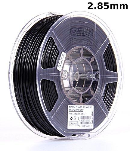 eSUN 3mm Black PLA PRO (PLA+) 3D Printer Filament 1KG Spool (2.2lbs), Actual Diameter 2.85mm +/- 0.05mm, Black by eSUN