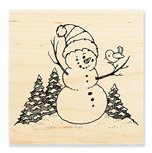 Stampendous Wood Stamp, Snowman Perch