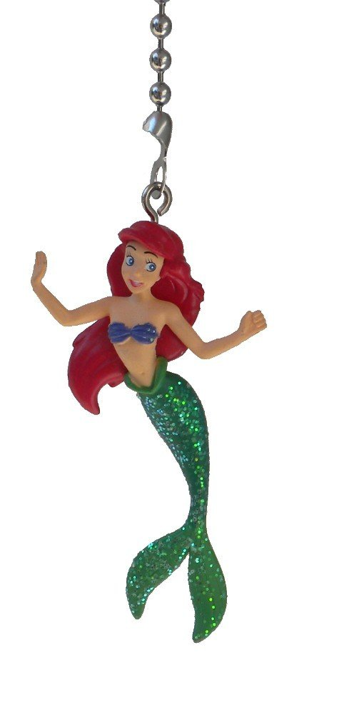 Disney Classic Disney PRINCESS movie assorted Character Ceiling FAN PULL light chain (Ariel - Mermaid)
