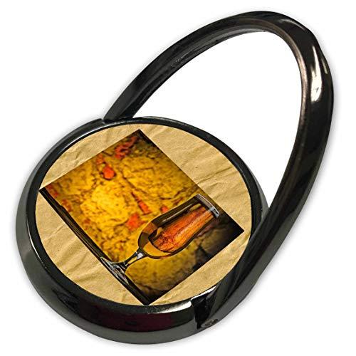 3dRose Lens Art by Florene - Vintage Floral Art - Image of Glass of Beer On Aged Craft Paper - Phone Ring (phr_309489_1)