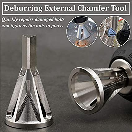 1 Pc High Hardness Deburring External Chamfer Tool Quickly Repairs Damaged Bolts