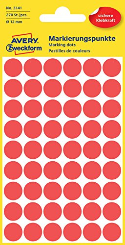 Red Dots 12mm Stickers