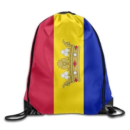 Daisylove Bandera de Andorra Personalizada Gimnasio con cordón Bolsas de Viaje Mochila Tote Mochila Escolar