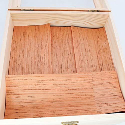 Woho Spanish Cedar Sheets for Cigars Humidor, Cedar Wood Veneer Lumber Strip Chip, Cigar Accessories for Tray Jar and…