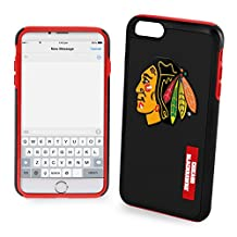 """NHL Chicago Blackhawks Impact TPU 2-Piece Dual Hybrid iPhone 7 / 6 / 6s Cover - 4.7"""" Screen ONLY"""
