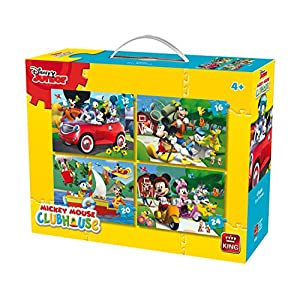 King 5505 Disney 4 In 1 Puzzle Mickey Mouse 121620pezzi 4 Puzzle In Una Valigia