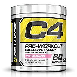 Cellucor, C4 Original Explosive Pre-Workout Supplement, Pink Lemonade, 60 Servings
